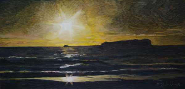 Sunrise over Cook Island