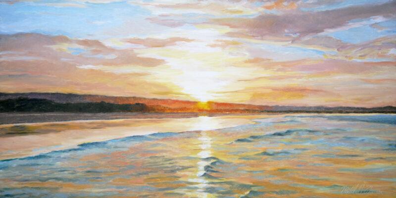 A83 Sunset, Flinders Beach, North Stradbroke