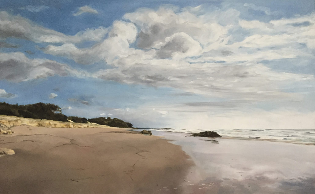 An oil painting of Stradbroke island.