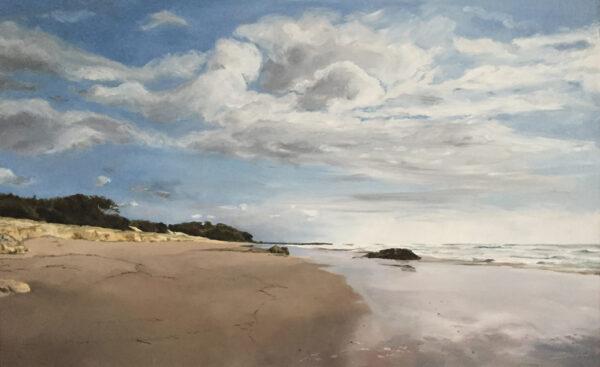 An oil painting of Stradbroke island.