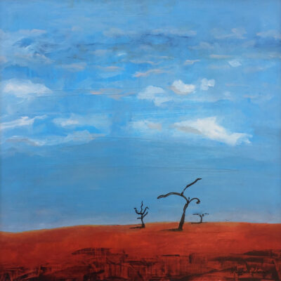 Trees dancing, red sand